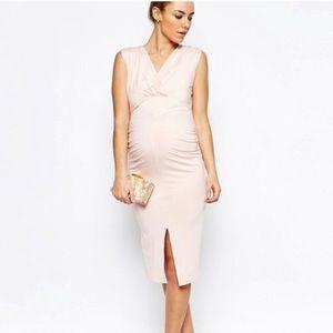 ASOS Maternity Light Pink Dress NWT
